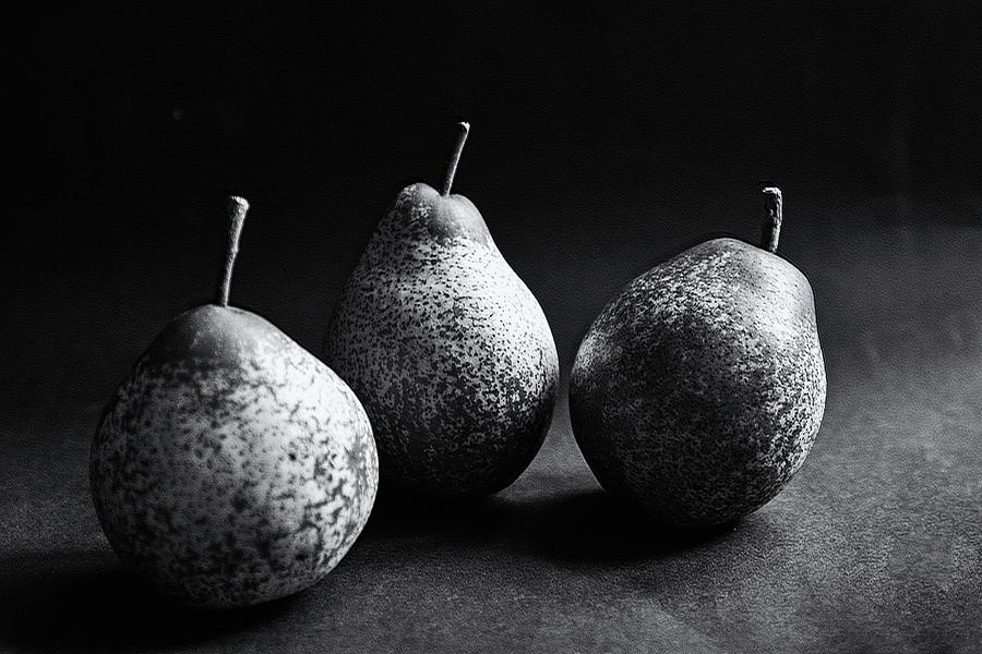 Autumn Pears Monochrome by Jeff Townsend