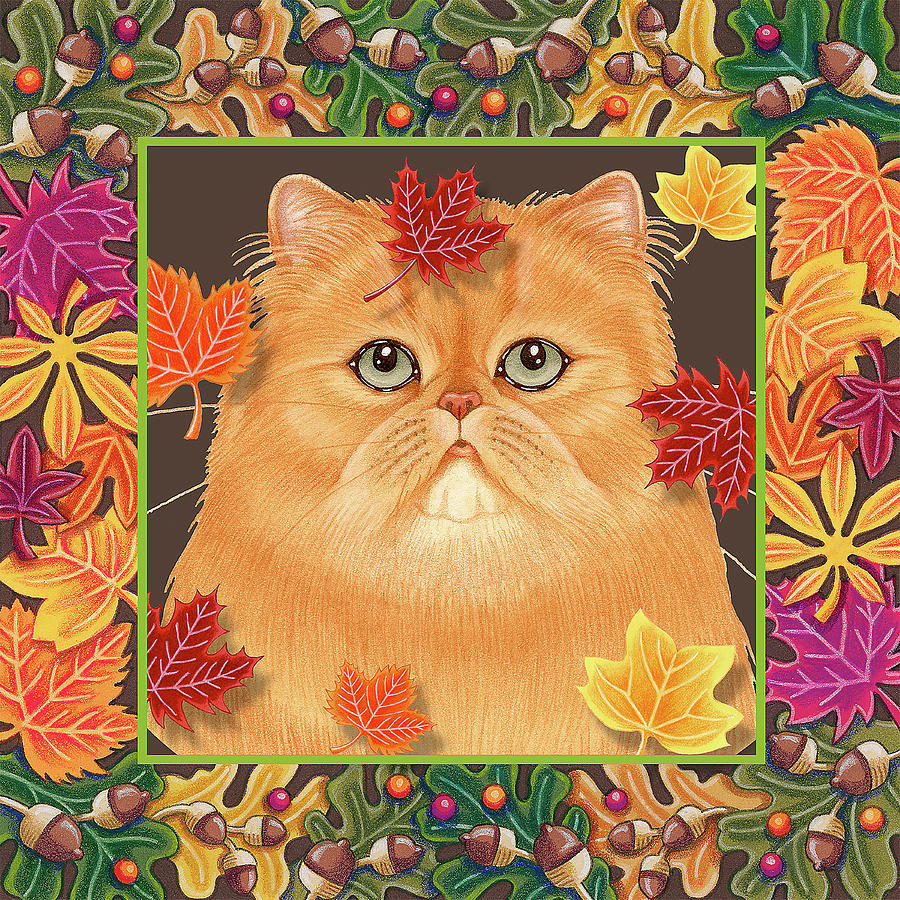 Leaf Mixed Media - Autumn Persian by Tomoyo Pitcher