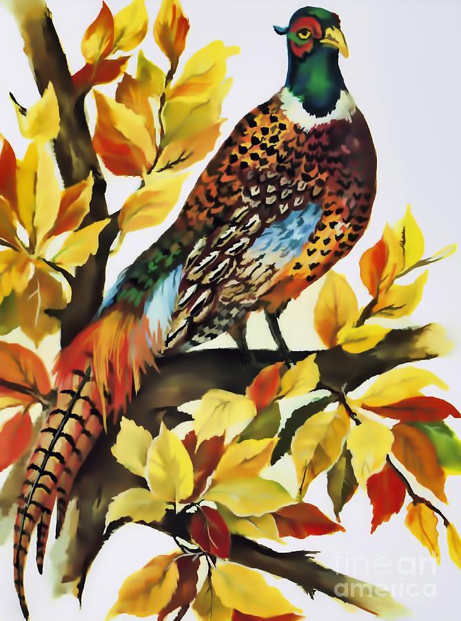 Autumn Pheasant by D Hackett