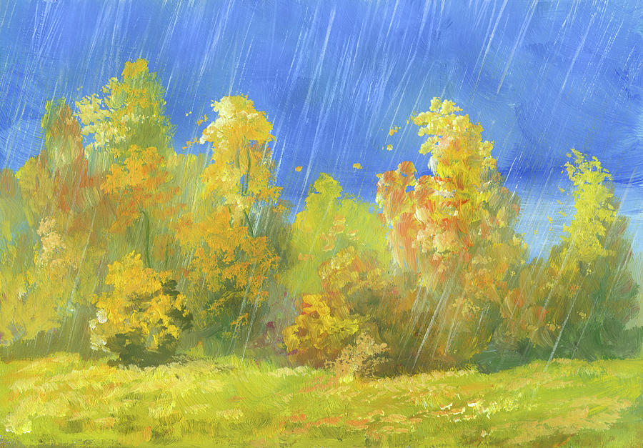 Autumn Rain Digital Art by Pobytov
