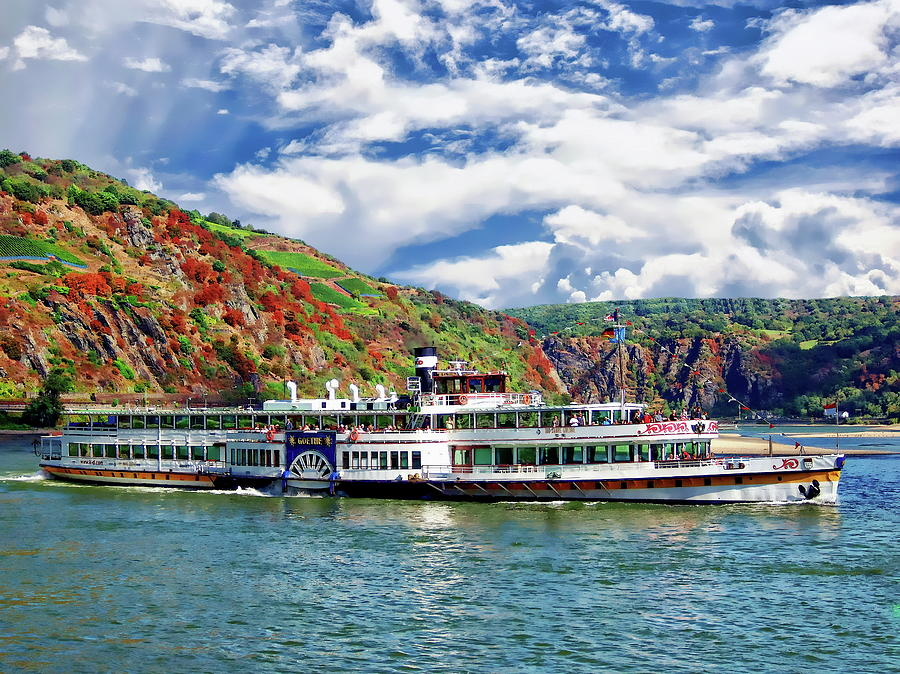 Autumn River Cruise by Anthony Dezenzio