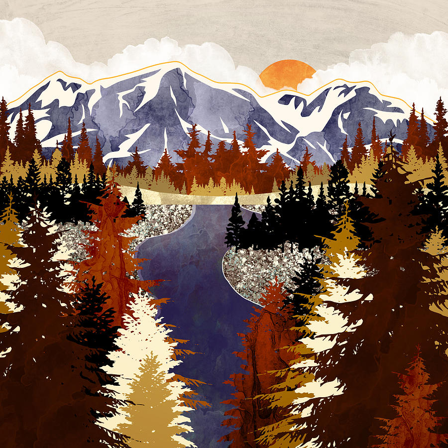 Autumn River by Spacefrog Designs