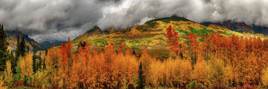 Autumn Scene at Crested Butte Colorado by OLena Art - Lena Owens