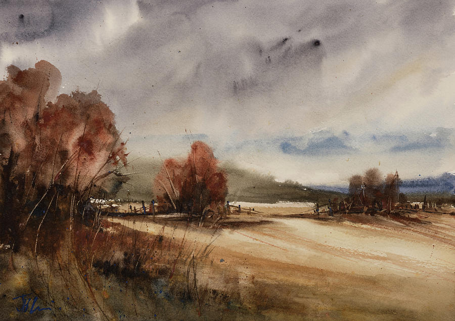 Autumn Sky on the Lane by Judith Levins