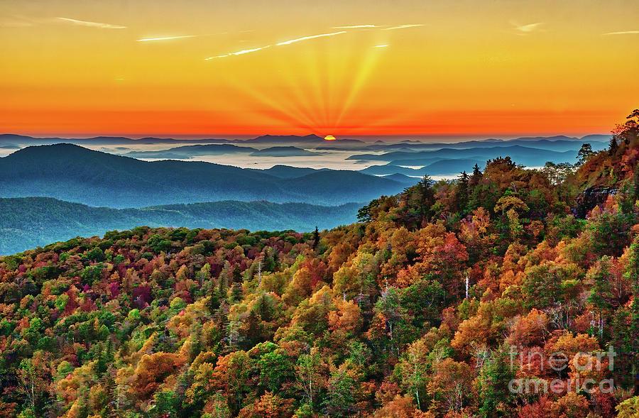 Autumn Sunrise Drama by Dan Carmichael