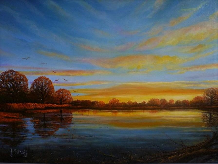 Autumn Sunrise. by Janet Silkoff