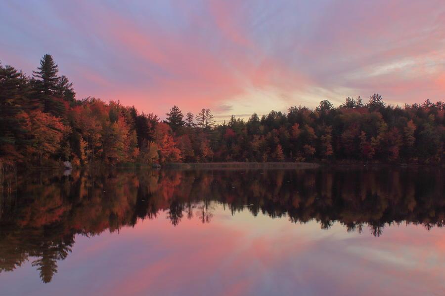 Autumn Sunset in the Berkshires by John Burk