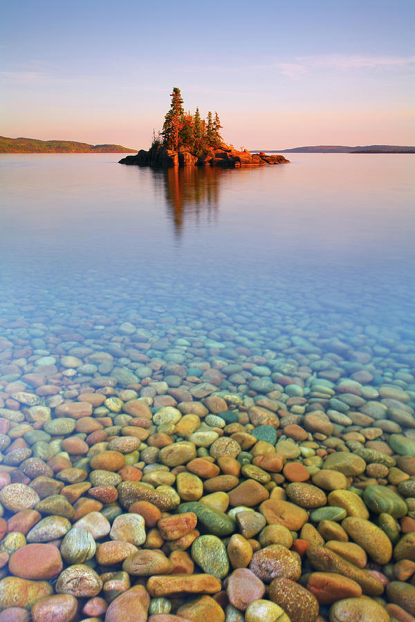 Autumn Sunset On A Tiny Island Photograph by Henry@scenicfoto.com