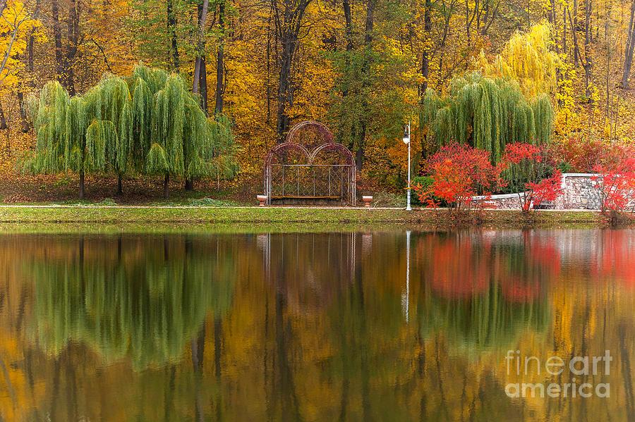 Romance Photograph - Autumn Tints Of Nature,park In Autumn by Photosite