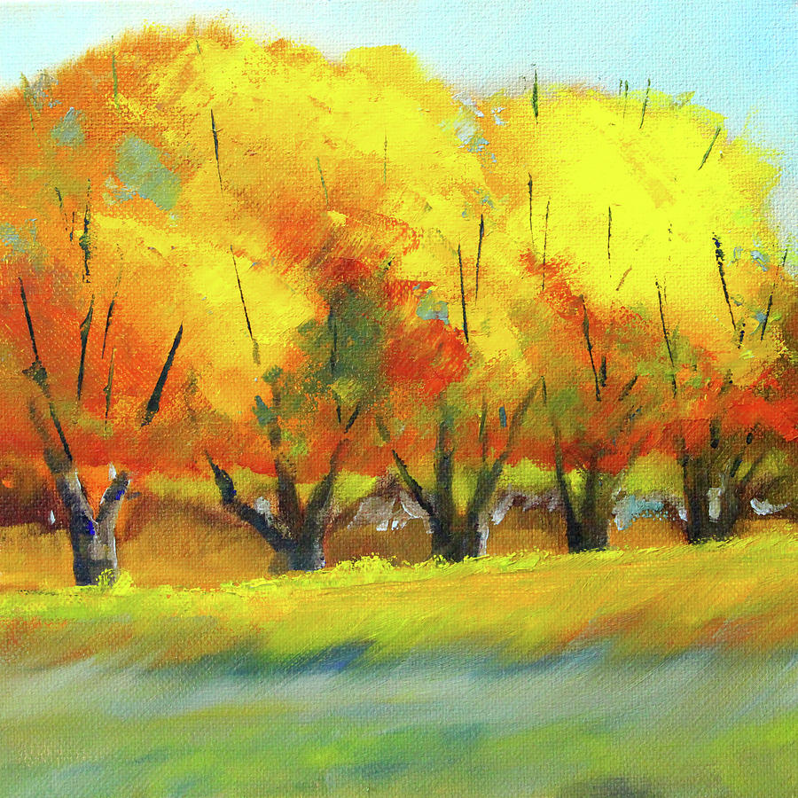 Autumn Tree Line by Nancy Merkle