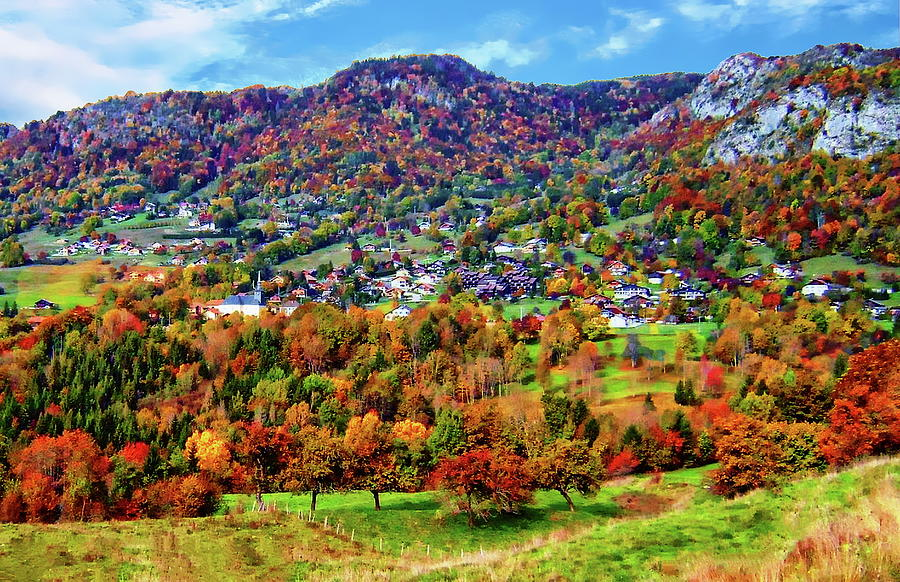 Autumn View Of Onnion Photograph