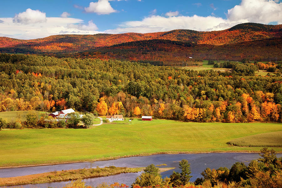 Autumn View Overlooking Connecticut Photograph by Danita Delimont