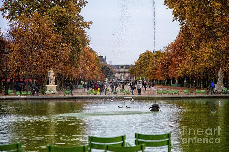 Autumn walk along the Champs Elysees by Wayne Moran