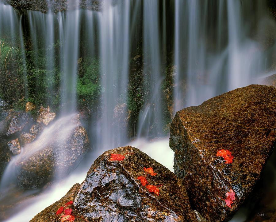 Autumn Photograph - Autumn Waterfall by Leland D Howard