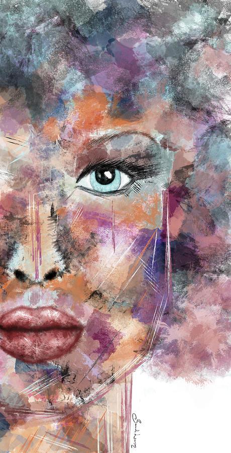 Autumn - Woman Abstract Art by Sannel Larson