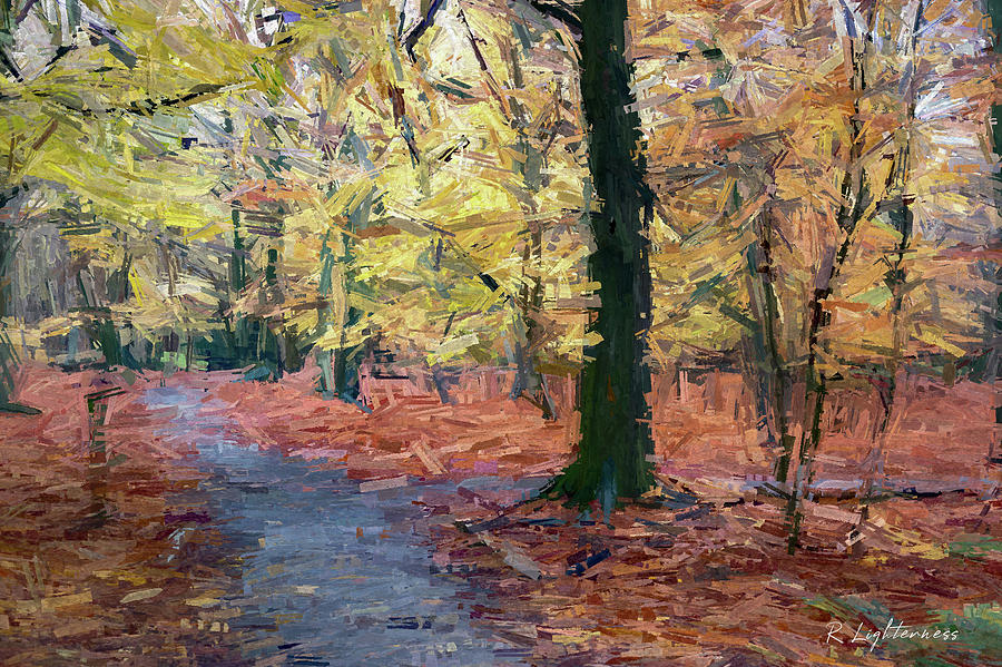 Autumn wood by Roger Lighterness