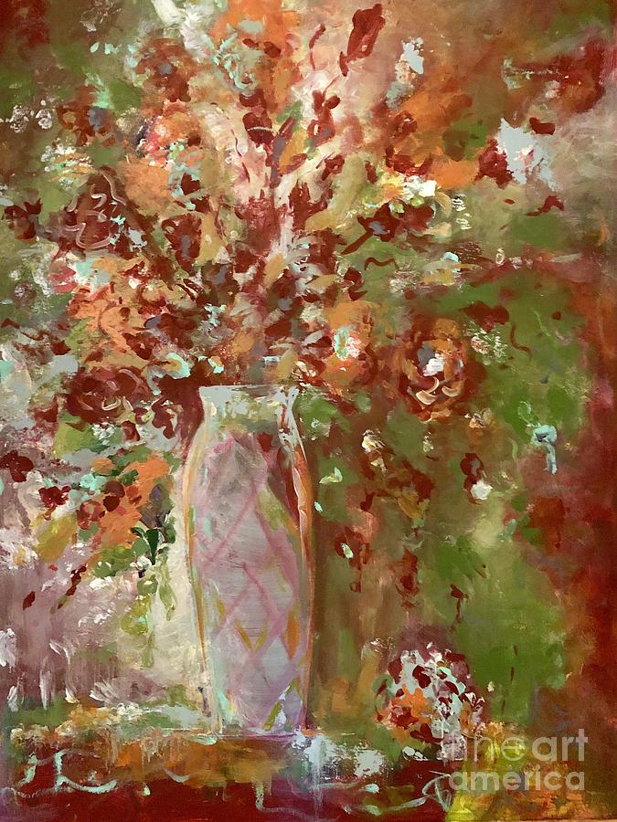 Vase Painting - Autumnal Glory by Jacqui Hawk