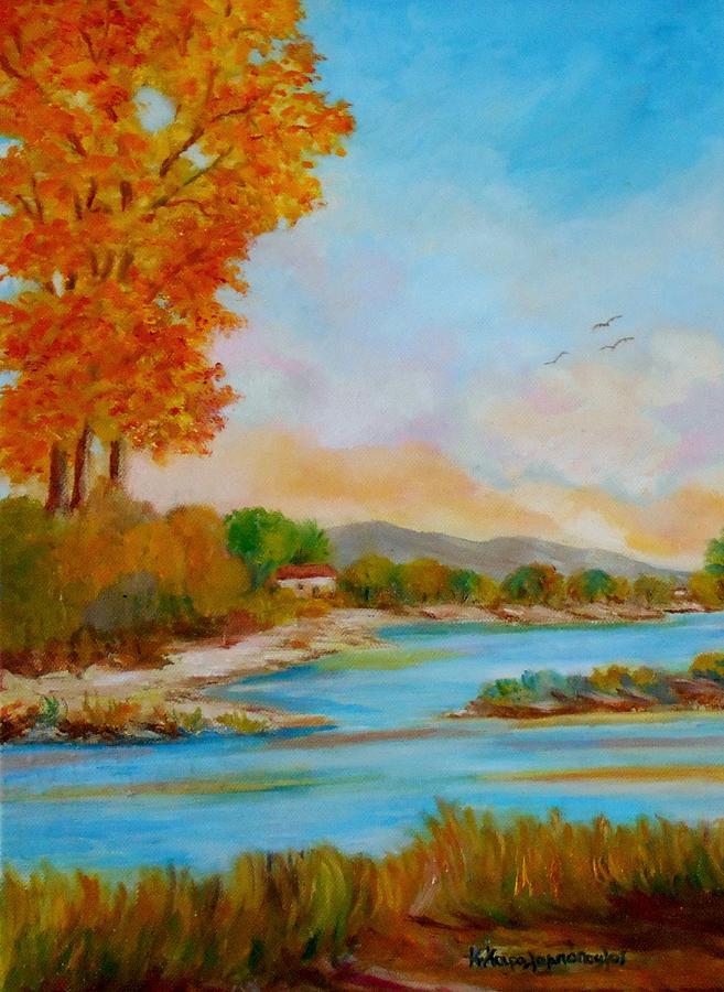 Autumnal Sunset Painting