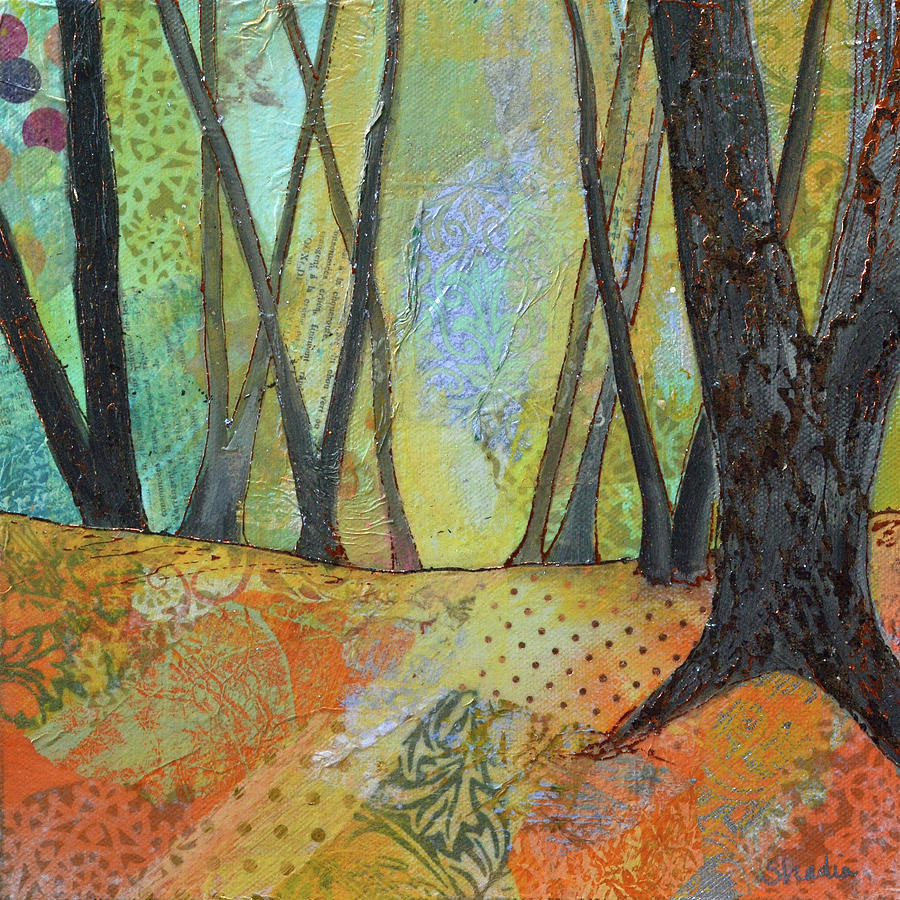 Autumns Arrival II Painting by Shadia Derbyshire