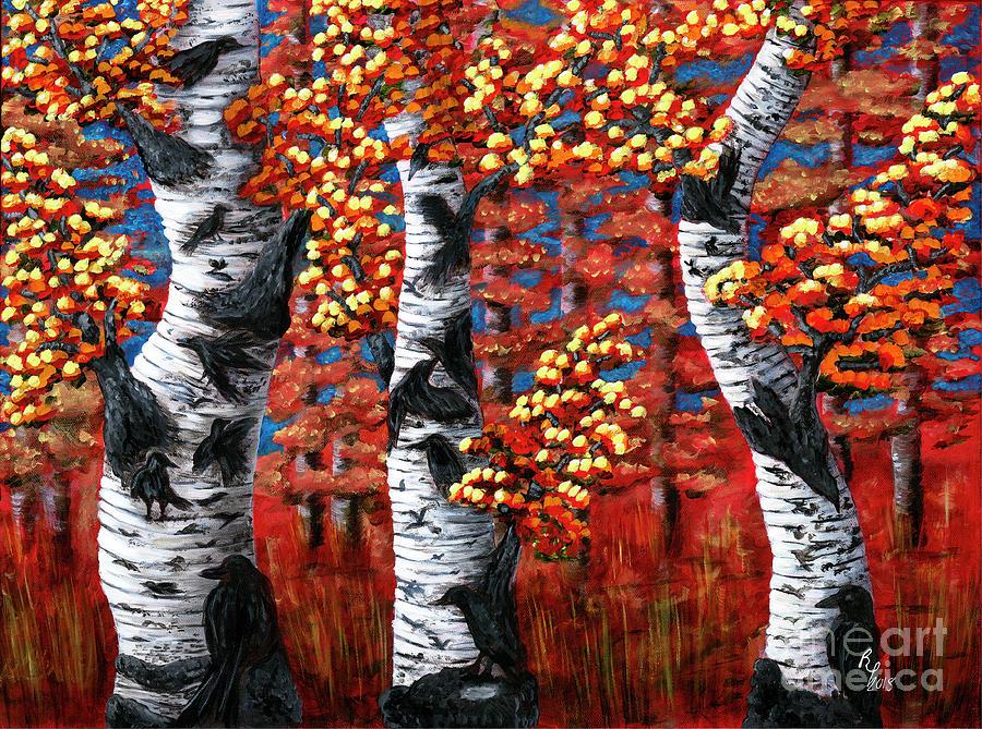 Autumns Corvus by Rebecca Parker