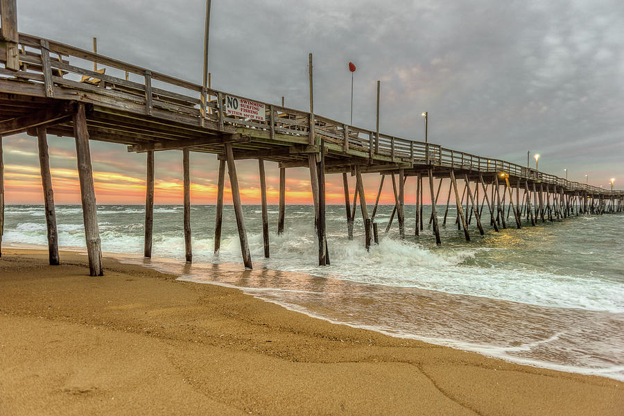 Avalon Pier - Kill Devil Hills NC by Norman Peay