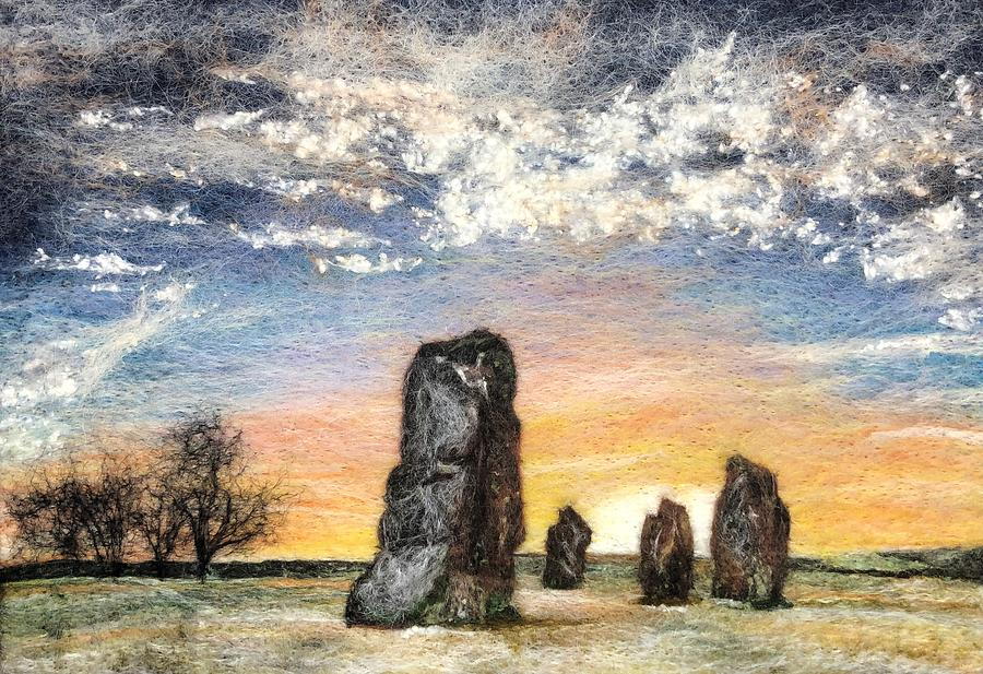 Avebury in Winter by Ushma Sargeant