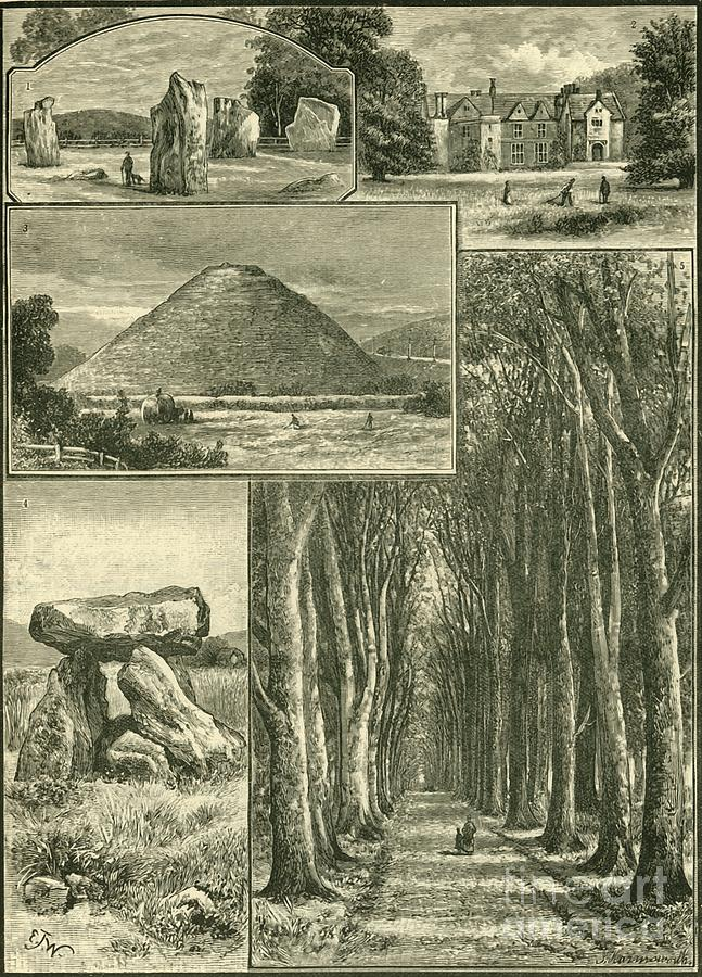 Avebury Littlecote Silbury Devils Den Drawing by Print Collector