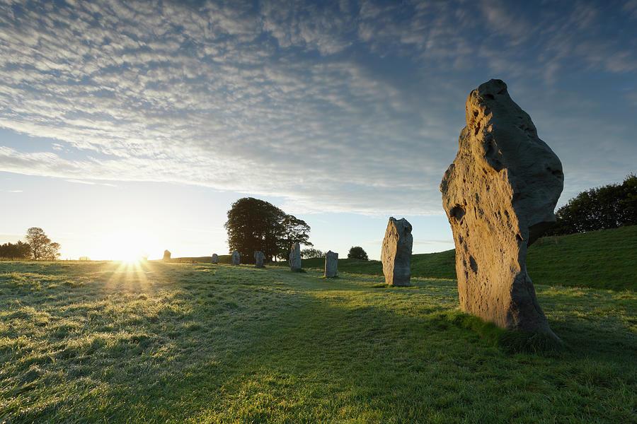 Avebury Stone Circle At Sunrise Photograph by James Osmond