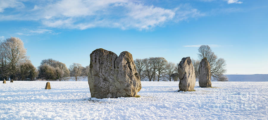 Avebury Photograph - Avebury Stone Circle In The Winter Snow by Tim Gainey