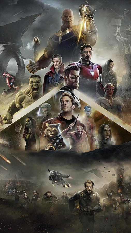 Iron Man Digital Art - Avengers Infinity War 2018 Poster by Geek N Rock