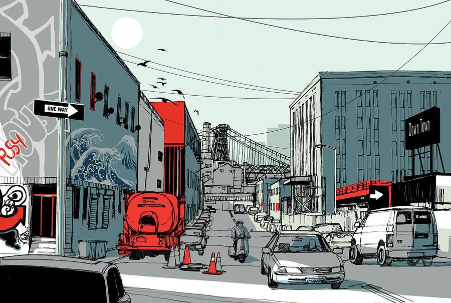 Avenue Digital Art by Copyrights (c) Wonman Kim