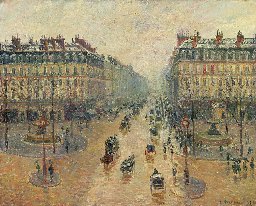 Camille Pissarro Painting - Avenue De Opera In Paris, Effect Of The Snow, Morning, 1899  by Camille Pissarro