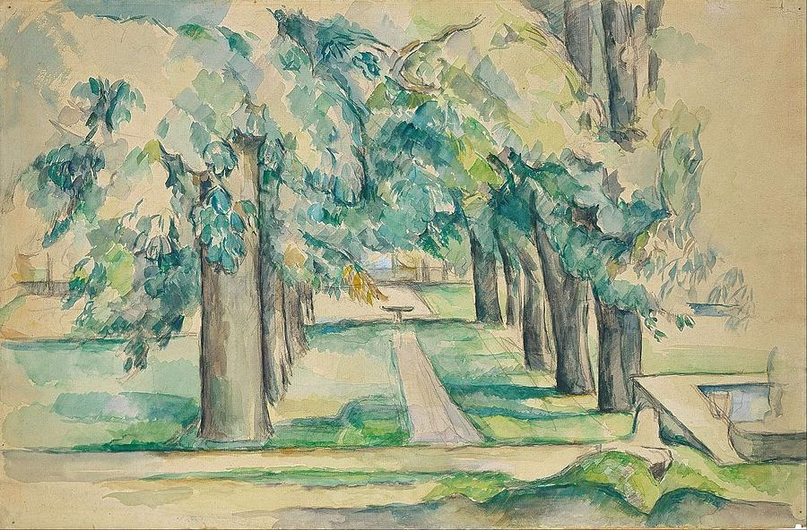 Avenue Painting - Avenue Of Chestnut Trees At The Jas De Bouffan  by Paul Czanne