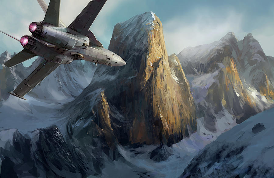 Aviation Art Digital Art by Copyrights (c) Wonman Kim