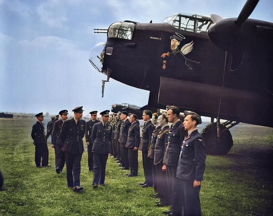 Avro Lancaster B Mark I  ED989  DX-F Frederick III. A Visit of Hm King George Vi To No 617 Squadron  by Ahmet Asar