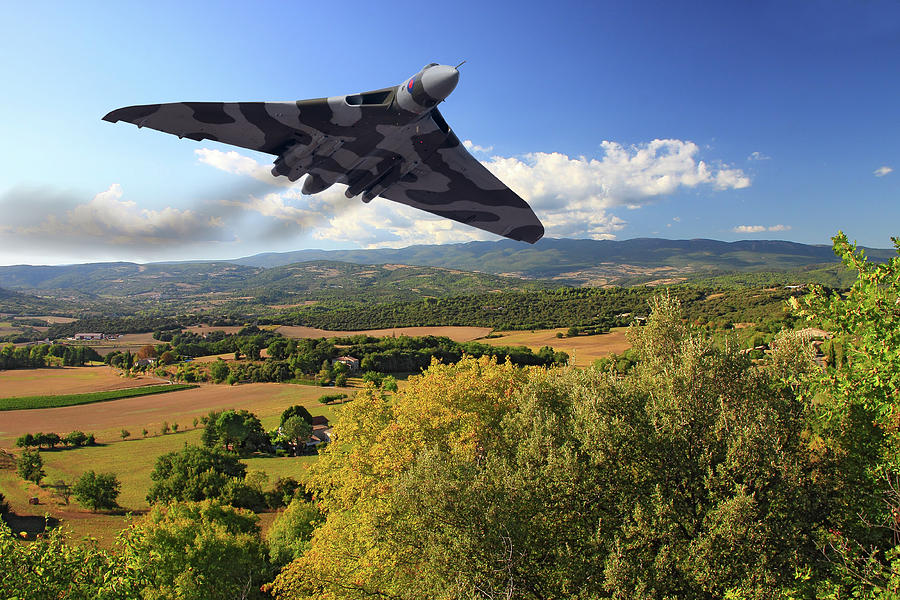 Avro Photograph - Avro Vulcan Under the Radar by Rob Lester