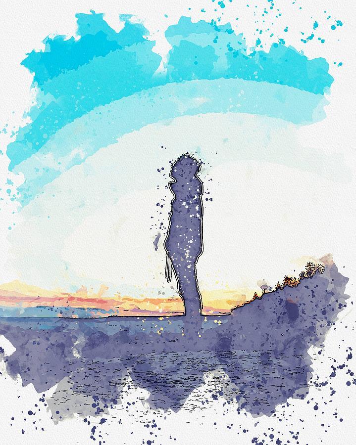 Awake Watercolor By Ahmet Asar Painting
