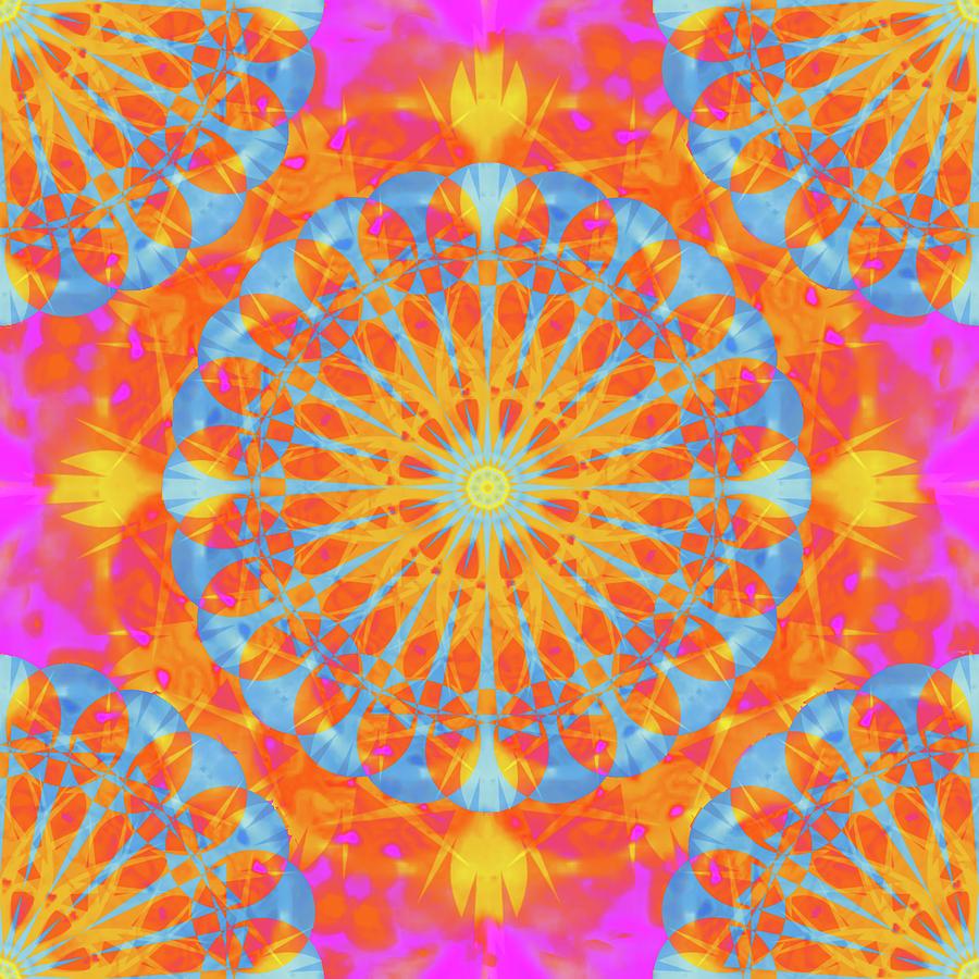 Quantum Beauty - Mandala112a Digital Art