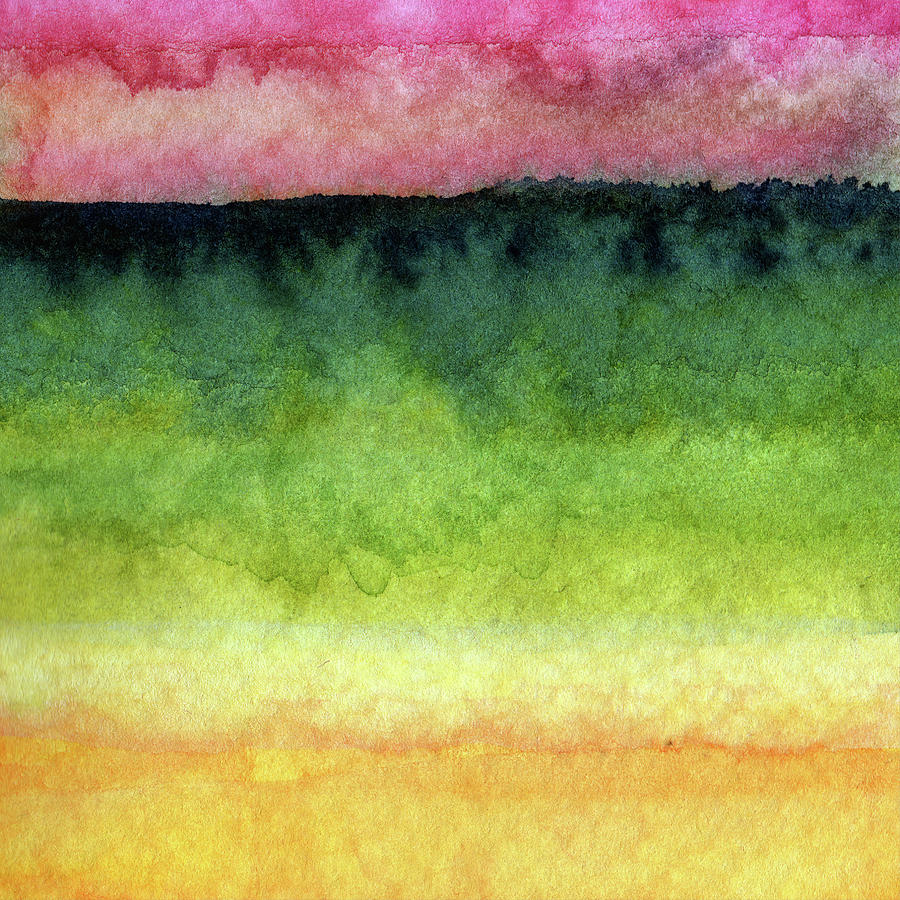Abstract Landscape Painting - Awakened Too by Linda Woods
