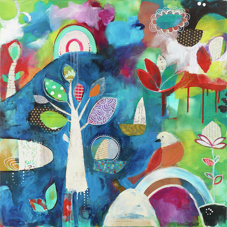 Whimsical Painting - Awakening by Susie Lubell