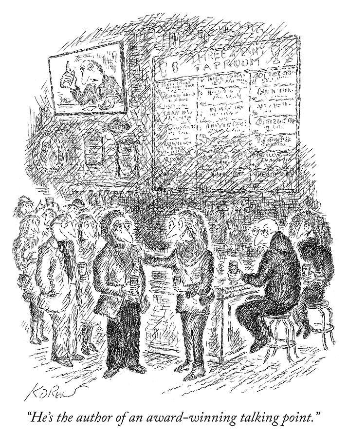 Award Winning Talking Point Author Drawing by Edward Koren