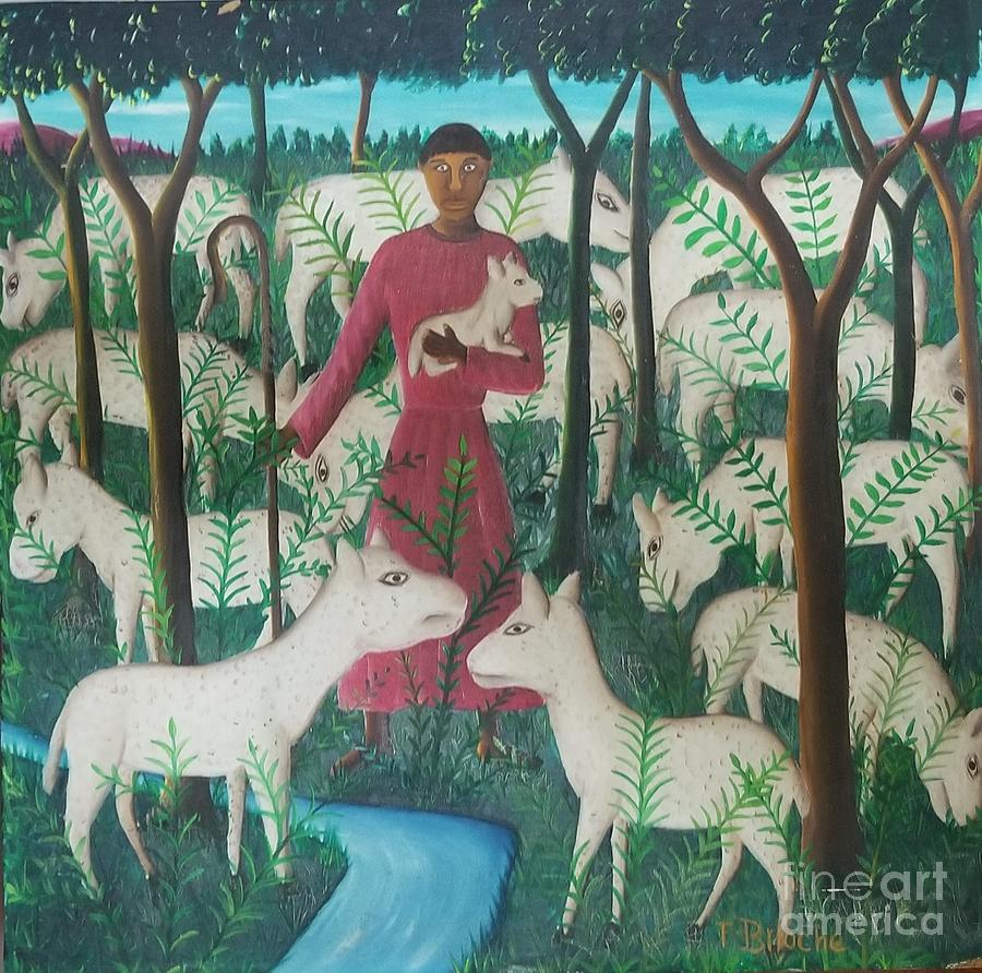 Ayiiboo Berger Et Ses Moutons Painting