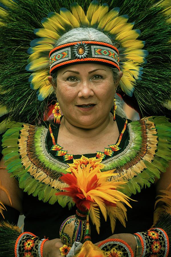 Aztec Dancers Photograph - Aztec Dancer at the Fiesta for the Virgin of Zapopan by Dane Strom