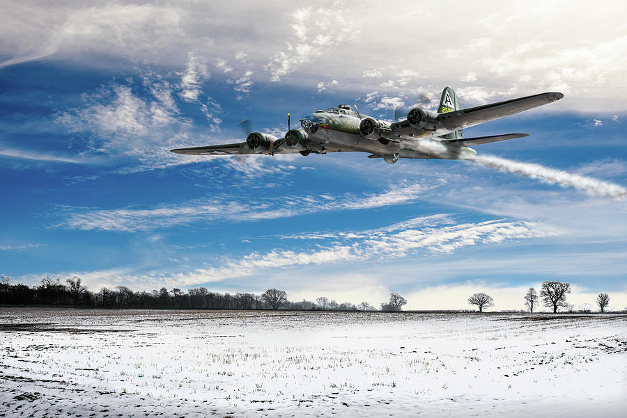 B-17 crash landing by Gary Eason