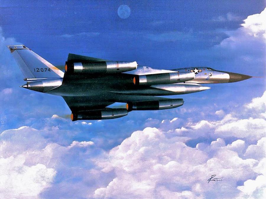 Convair Painting - B-58 Hustler by Peter Ring Sr