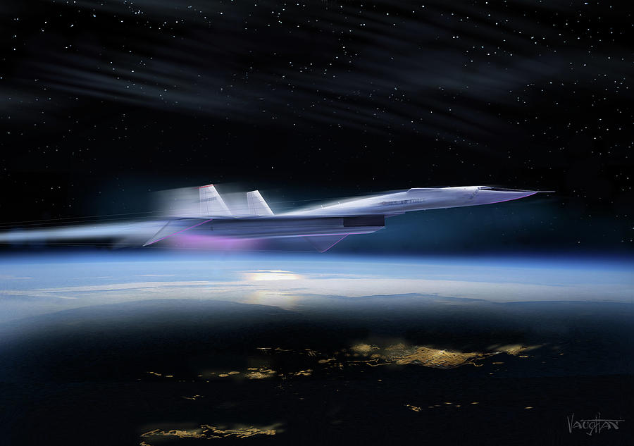 B-70 Valkyrie - night - paint by James Vaughan