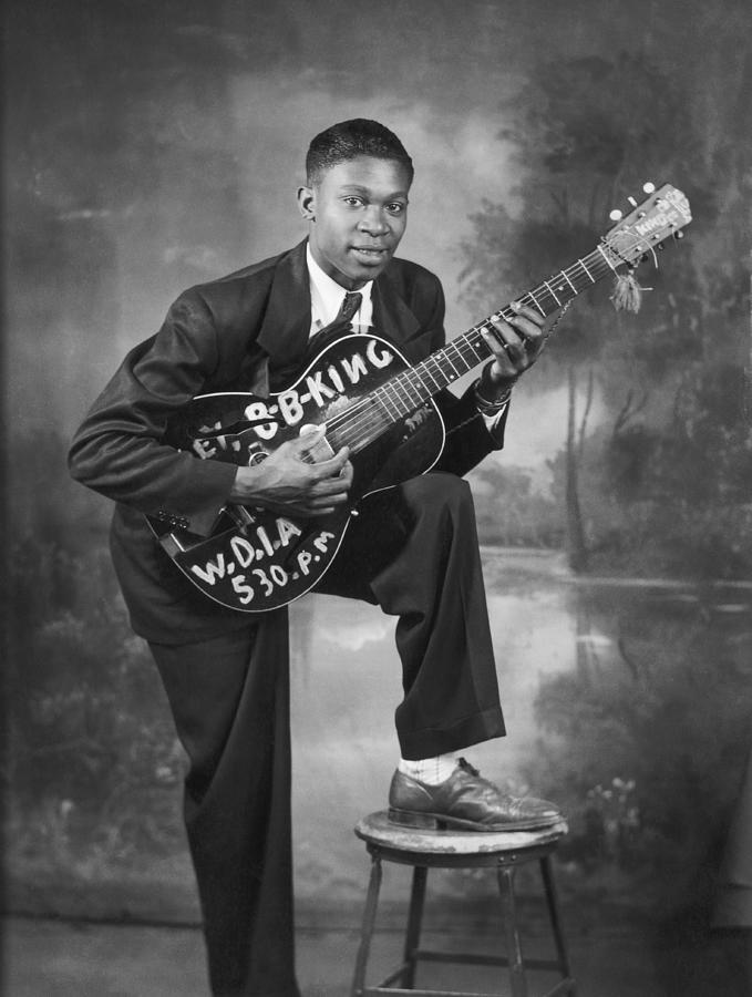 B. B. King Early Portrait Photograph by Michael Ochs Archives