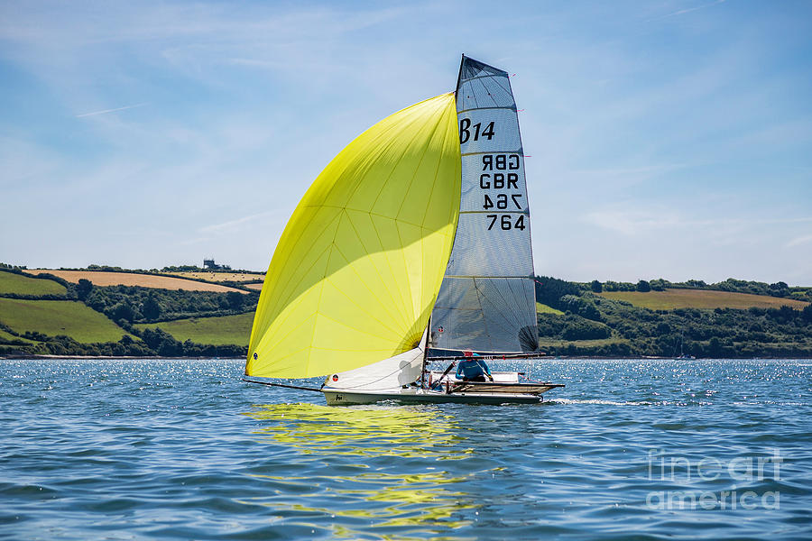 B14 Yellow Spinnaker by Brian Roscorla