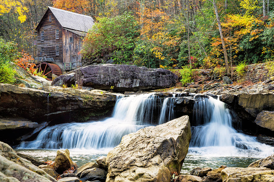 Babcock State Park Grist Mill by Fran Gallogly