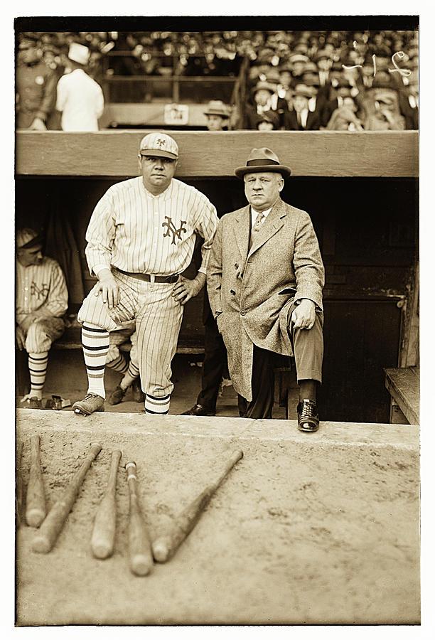 Babe Ruth and John McGraw by Carlos Diaz